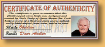 Dale Duby - Certificate of Authenticity