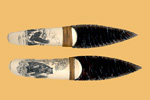 Buffalo Bone Scrimshaw Knife. Medium 8 to 10 Inches $120 - KN1120.