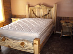Rustic Blue Pine Bed