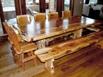 Juniper Dining Set with Bench and Stools