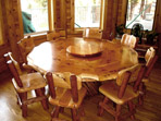 Juniper Round Lazy Susan Dining Table