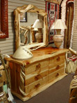 Twisted Juniper 6 Drawer Dresser with Mirror