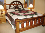Rustic Wagon Wheel Bed. Queen or King.